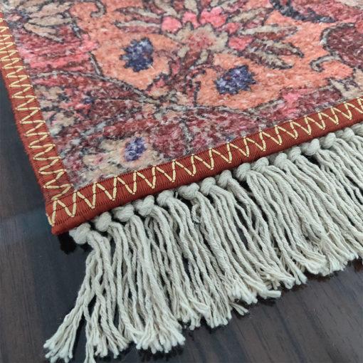 Avioni Faux Silk Carpet – Neo Persian Collection Ethnic Red
