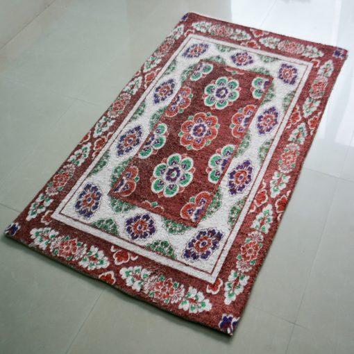 Avioni Carpet – Faux Silk- Neo Persian Collection Wild Flowers – 3×5 Feet