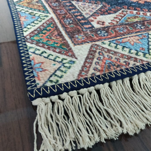 Avioni Faux Silk- Neo Persian Collection Blue  Multicolour