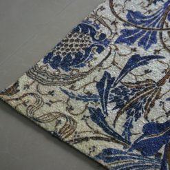 Avioni Carpet – Faux Silk- Neo Modern Collection Blue Floral- 3×5 Feet