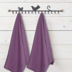 Kitchen Towels / Napkins 100% Cotton (Set Of Six) Purple Color