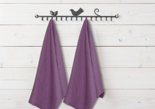 Kitchen Towels / Napkins 100% Cotton (Set Of Six) Purple Color