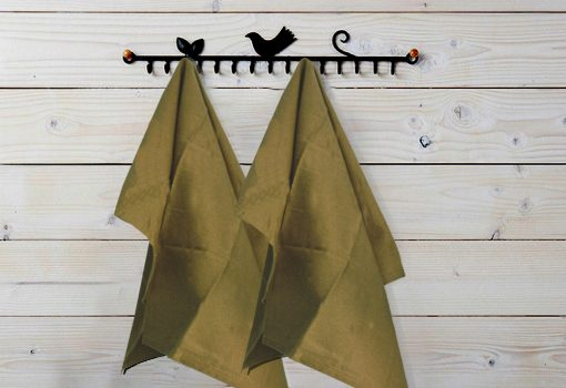 Kitchen Towels / Napkins 100% Cotton (Set Of Six) Brown