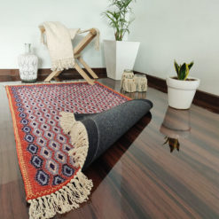 Avioni Carpet – Faux Silk- Neo Persian Collection Sinduri Border – 3×5 Feet