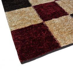 Avioni Rugs  Red Beige Box Carpets For Living Room Actual Feather Touch- Softness Guaranteed-Handloom Made Reversible Light Weight