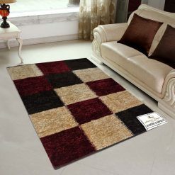 Avioni Rugs  Red Boxes  For Living Room Actual Feather Touch- Softness Guaranteed-Handloom Made Reversible Light Weight