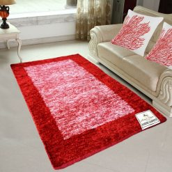 Avioni Rugs  Red Shades Carpets For Living Room Actual Feather Touch- Softness Guaranteed-Handloom Made Reversible Light Weight