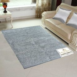 Avioni Rugs  Silver Solid Rugs  For Living Room Actual Feather Touch- Softness Guaranteed-Handloom Made Reversible Light Weight