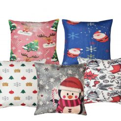 3D Cushion Covers For Kids Room Blue- Best Price 16 X 16 Inch (set of 5) by Avioni