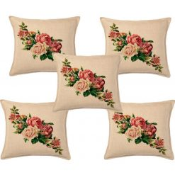 3D Cushion Covers Bunch Of Flowers- Best Price 16 X 16 Inch (set of 5) by Avioni