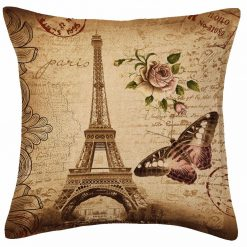 3D Cushion Covers Eiffel Tower  Tour- Best Price 16 X 16 Inch (set of 5) by Avioni