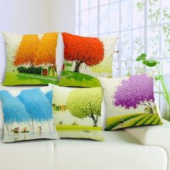 3D Cushion Covers Fields In Country Side – Best Price 16 X 16 Inch (set of 5) by Avioni