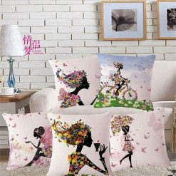 3D Cushion Covers Girls Room  For Your Little Princess – Best Price 16 X 16 Inch (set of 5) by Avioni