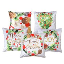 3D Cushion Covers Merry Christmas Soft Feel – Best Price 16 X 16 Inch (set of 5) by Avioni