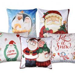 3D Cushion Covers Santa In Christmas – Best Price 16 X 16 Inch (set of 5) by Avioni
