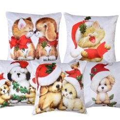 3D Cushion Covers Christmas Showers Soft Feel – Best Price 16 X 16 Inch (set of 5) by Avioni
