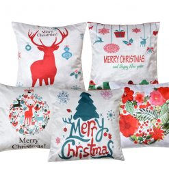 3D Cushion Covers Raindeer and Christmas Soft Feel – Best Price 16 X 16 Inch (set of 5) by Avioni