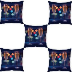 3D Cushion Covers Cheers With Friends Soft Feel – Best Price 16 X 16 Inch (set of 5) by Avioni