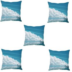 3D Cushion Covers Flying With The Clouds Soft Feel – Best Price 16 X 16 Inch (set of 5) by Avioni