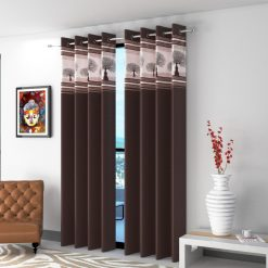 Avioni  Tree Of Life Patch Heavy Crush In Coffee Window And Door Curtains (Set of 2)