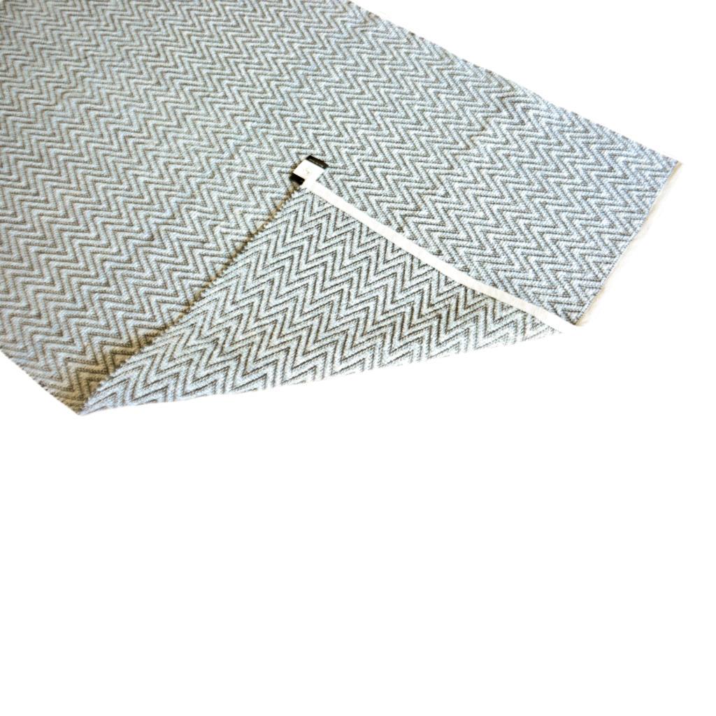 Avioni Lux Handloom Cotton Designer Durries-122 cm X 182 cm (4x6 Feet)- Blue