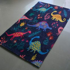 Avioni Carpets Silk- Kids Collection Disnosours in The Room- 92 cm X 152 cm (3X5 Feet)