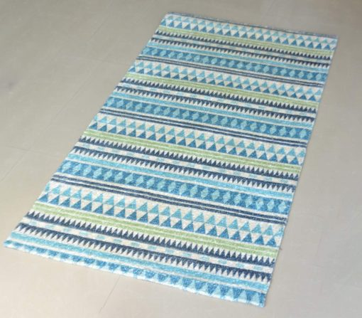 Avioni Carpets for Living Room – Neo Modern Collection Blue Multicolour Carpet/Rug – 122x 182 cm (4X6 Feet)
