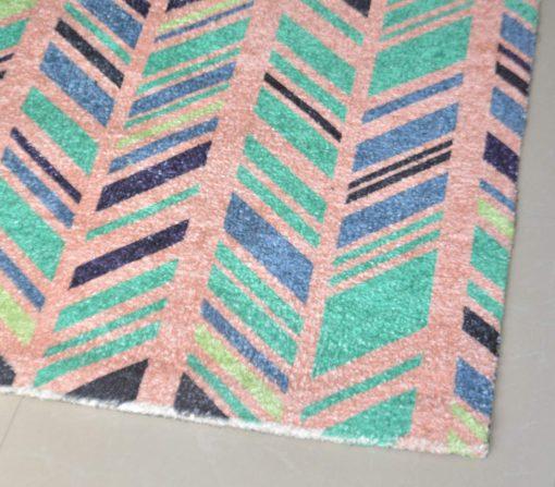 Avioni Carpets for Living Room – Neo Modern Collection Pink Multicolour Carpet/Rug – 92 x 152 cm (3×5 Feet)