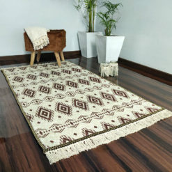 Avioni Carpets for Living Room – Neo Modern Collection Coffee- Beige Carpet/Rug – 92x 152 cm (3×5 Feet)
