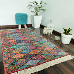 Avioni Carpet – Neo Modern Collection Persian Ethnic Multicolour – 92x 152 cm (3×5 Feet)