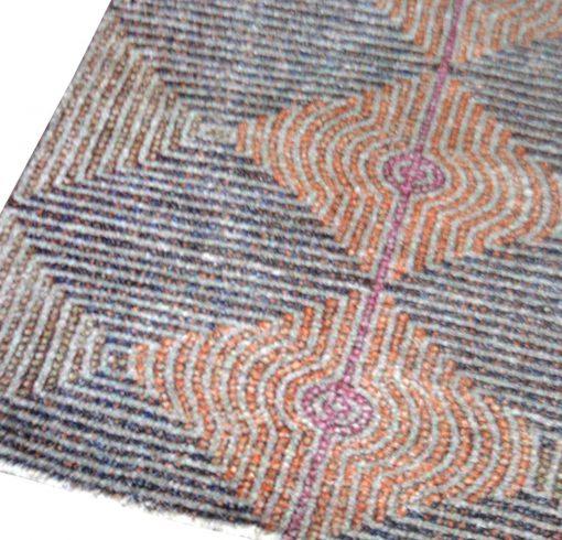Avioni Faux Silk Carpet – 3D Printed Neo Collection Multi Waves – 92×152 cm (3×5 Feet)