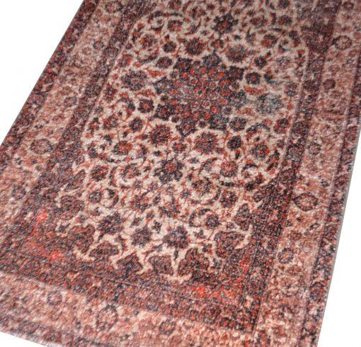 Avioni Faux Silk Carpet – 3D Printed Ethnic Collection Rustic Feel – 92×152 cm (3×5 Feet)