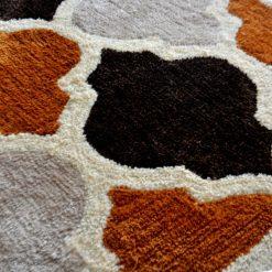 Avioni Carpets in Moroccan Lattice Brown Color -92 cm X 152 cm (3X5 Feet)