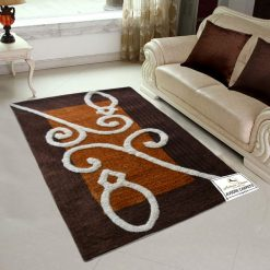 Avioni Shaggy Carpets Coffee Border – 92×152 cm (3 Feet X 5 Feet)