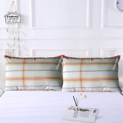 AVIONI 100% Cotton Pillow Covers – Set of 2 (Medium Size) Orange Lines