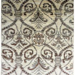Gift for Generations by Avioni -Hand Knotted Silk Beige Traditional Carpet Around 225 Knots per sq inch-122 cm x 183 cm (4 x 6 feet)