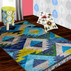Silk Carpet Geometric Design Premium Living Room Rug -Avioni