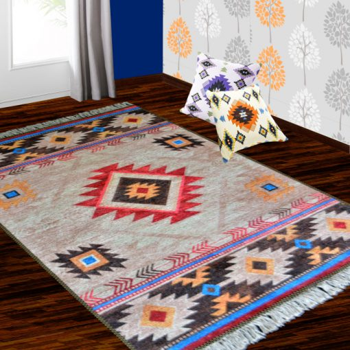 Carpet For Living Room-Faux Silk – Ethnic Collection-Avioni