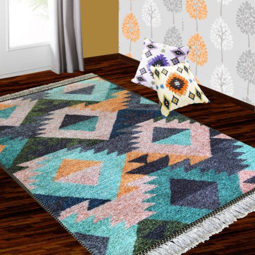 Silk Carpet Ethnic Premium Living Room Rug Teal-Avioni