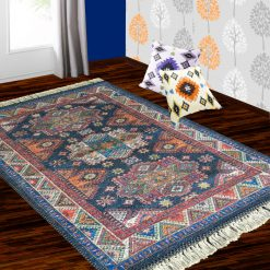 Silk Carpet Tribal Premium Living Room Rug Blue-Avioni