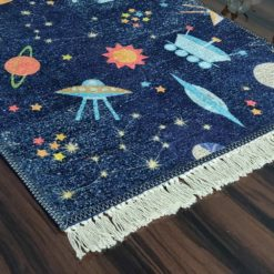 Silk Carpet Kids Collection  – Astronauts In Sky Kids Room Rug -Avioni