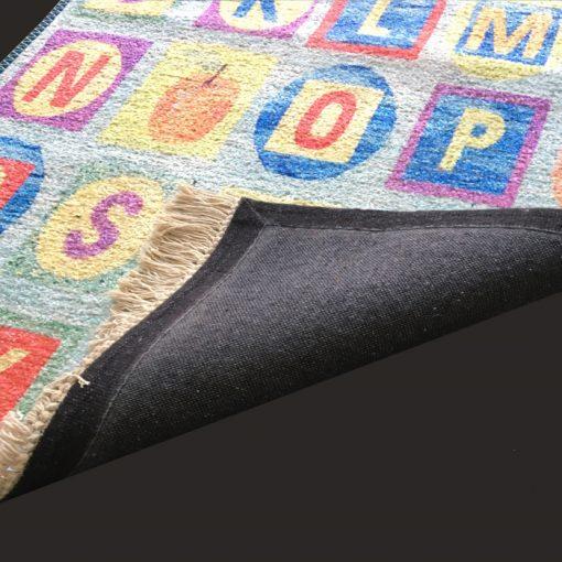 Silk Carpet Kids Collection  – ABCD Kids Room Rug – 3×5 Feet  (90 x 150 cms)-Avioni