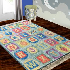 Silk Carpet Kids Collection  – ABCD Kids Room Rug – 3×5 Feet  (90 x 150 cms)-Avioni
