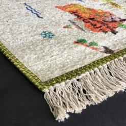 Silk Carpet Kids Collection  – World Map In Kids Room Rug – 3×5 Feet  (90 x 150 cms)-Avioni