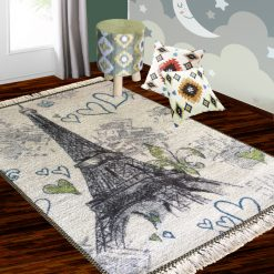 Silk Carpet Kids Collection  – Effile Tower InKids Room Rug – 3×5 Feet  (90 x 150 cms)-Avioni