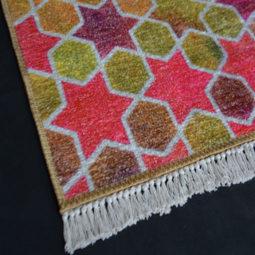 Silk Carpet Modern Design Collection Pink abstract – Living Room Rug – 3×5 Feet  (90 x 150 cms)-Avioni