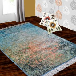 Silk Carpet Modern Design Collection Abstract Multicolour  – Living Room Rug – 3×5 Feet  (90 x 150 cms)-Avioni