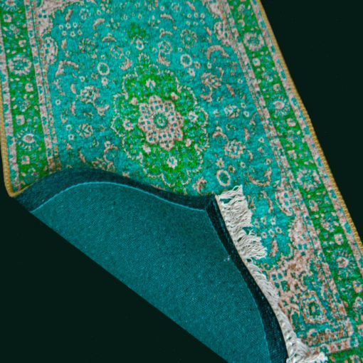 Silk Carpet Persian Design Collection Green  – Living Room Rug-Avioni