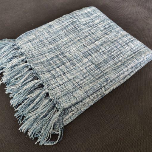 Avioni Sofa Throws/Blankets Super Soft Acrylic Handloom Weaved Blue Multicolour – (Noor Collection)-127×152 cm (50 x 60 Inch)