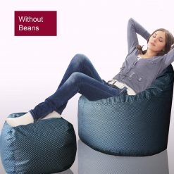 BIGMO Designer Bean Bags XXL Eye Catching Prints Waterproof Material Soft Touch Easy to Wash With Foot Rest